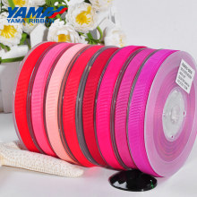 YAMA 6 9 13 16 19 22 mm 100 yards/lot Grosgrain Ribbon Red Pink Wholesale for Diy Dress Accessory House Wedding Decoration(China)