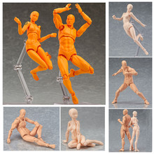Get more info on the 15cm Figuarts Anime BODY KUN / BODY CHAN Ferrite Joint Movable Body Feminino PVC Action Figure drawing figures Model Toy doll