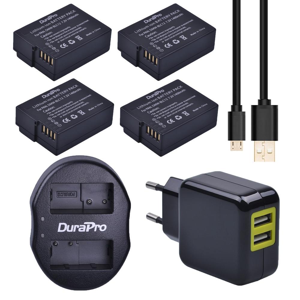 4pcs 1400mAh DMW-BLC12 DMW-BLC12E BLC12 Battery + USB Dual Charger for Panasonic FZ1000 FZ200 FZ300 G5 G6 G7 GH2 Camera 3pc dmw blc12 dmw blc12e blc12 1400mah rechargeable li ion battery dual charger for panasonic fz1000 fz200 fz300 g5 g6 g7 gh2 page 4