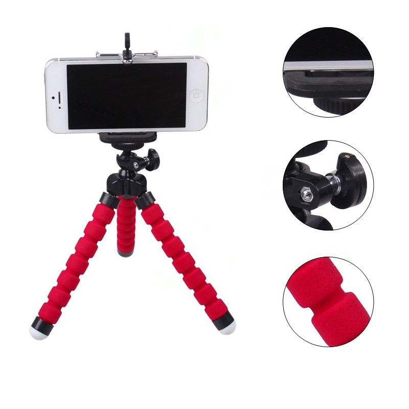 Universal Holder Flexible Octopus <font><b>Tripod</b></font> Bracket Selfie Stand Mount Monopod Styling Accessories with <font><b>phone</b></font> on-clip For Camera