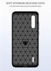Image 3 - Funda de teléfono para Xiaomi Mi A3 un 3 de lujo, cubierta de fibra de carbono xiami CC9 CC9e CC C 9e C9 C9e 9 suave MiA3 MiCC9 MiCC9e Coque de silicona