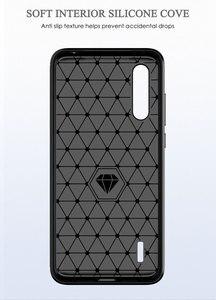 Image 3 - Telefon kılıfı için Xiaomi Mi A3 3 lüks karbon fiber kapak Xiaomi CC9 CC9e CC C 9e C9 C9e 9 yumuşak MiA3 MiCC9 MiCC9e Coque silikon
