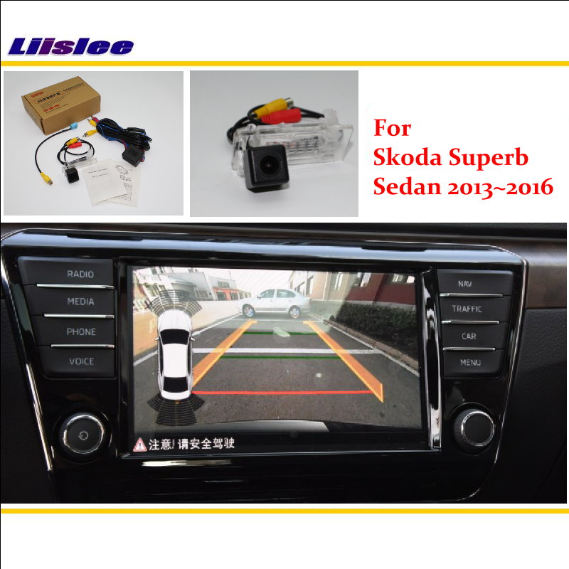 Liislee For Skoda Superb Sedan 2013~2016 RCA & Original Screen Compatible Rear View Camera / Back Up Reverse Parking Camera