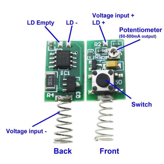 2pcs 532nm 808nm 850nm 980nm Laser Diode Module Driver Board Reverse - Wiring Diagram
