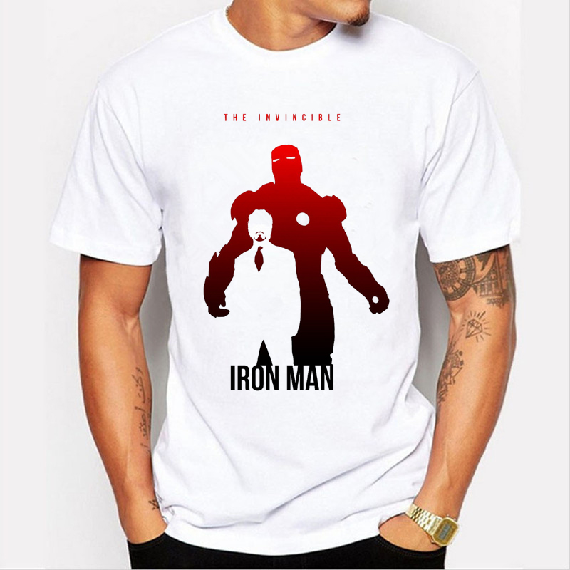 2018 Men Tshirt Captain America/Iron Man/Hulk/Thor Personalized print T-shirt Avengers Boy T-Shirt Brand clothing 89-1#