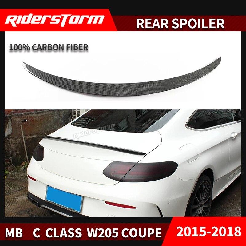 W205 coupé 2 portes seulement Style Amg becquet de carbone arrière coffre aile arrière bootcover lèvre pour Mercedes classe C 2015-2017 C180 C200 C250