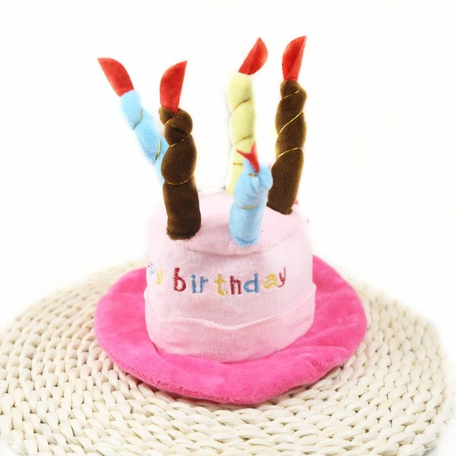 Cute Pet Turned Hat Birthday Cake Wear Pets Super Lovely Funny Dog Cat Rabbit