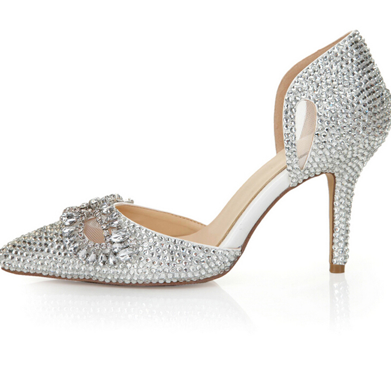 Popular Silver Prom Dress Shoes-Buy Cheap Silver Prom Dress Shoes ...