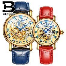 Известный Бренд Любители Часы Женщины Дамы Девушки Мужчины Женские Часы Бингер часы Автоматическая Montre Роковой Relógio Feminino
