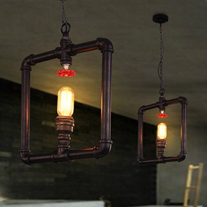 IWHD American Iron Lampara Vintage Hanging Lamp LED Loft Style Rertro Industrial Lighting Fixtures Lampen Single Head Luminaire