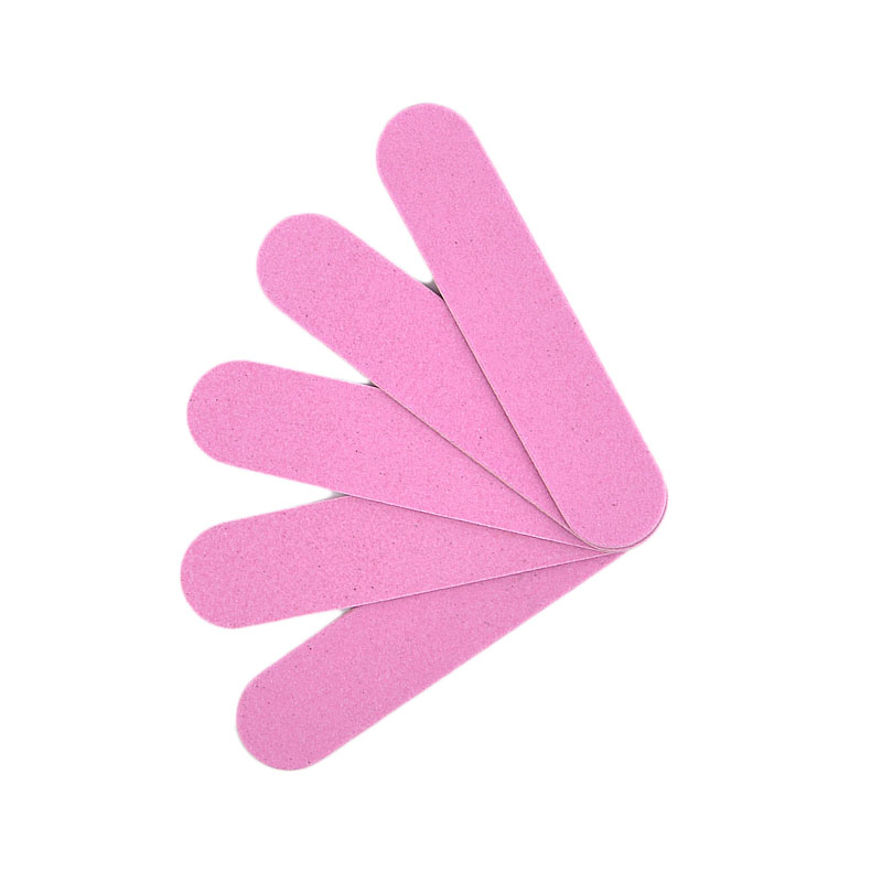 50pcs/batch Pink Double Sides 90mm Nail File Sandpaper Wooden Chips Nail File Easy To Carry Disposable Nails Tool For Gift