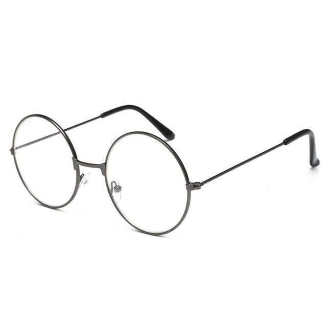 2017 New Classic Vintage Glasses Frame Round Lens Flat Myopia Optical Mirror Simple Metal Women/Men Glasses Frame 5