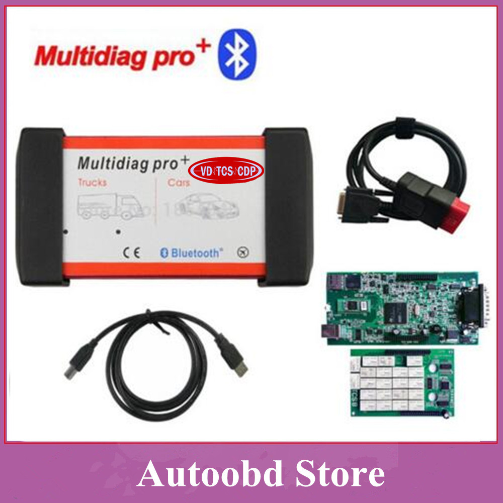 Цена за Двойная Зеленая Доска PCB 8.0 Multidiag Pro с Bluetooth и Без bluetooth так Же, как В. Д. TCS CDP OBDII Автомобилей и грузовики диагностический инструмент