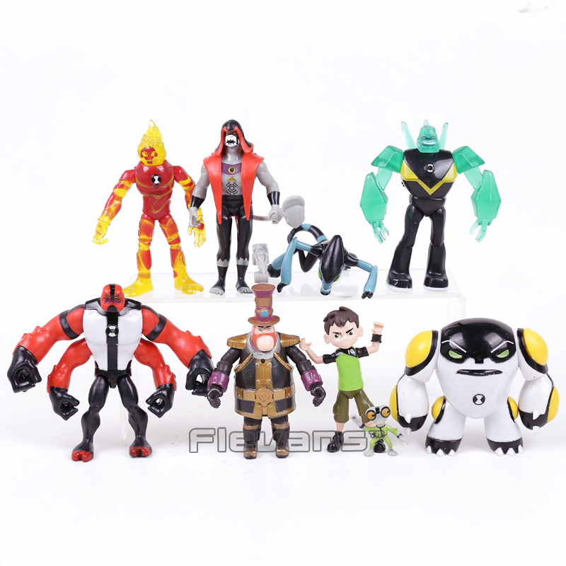 Ben 10 Toys Ben Tennyson Four arms Grey Matter Kineceleran Diamondhead Heatblast Figures 9pcs/set игра для ps3 ben 10 omniverse