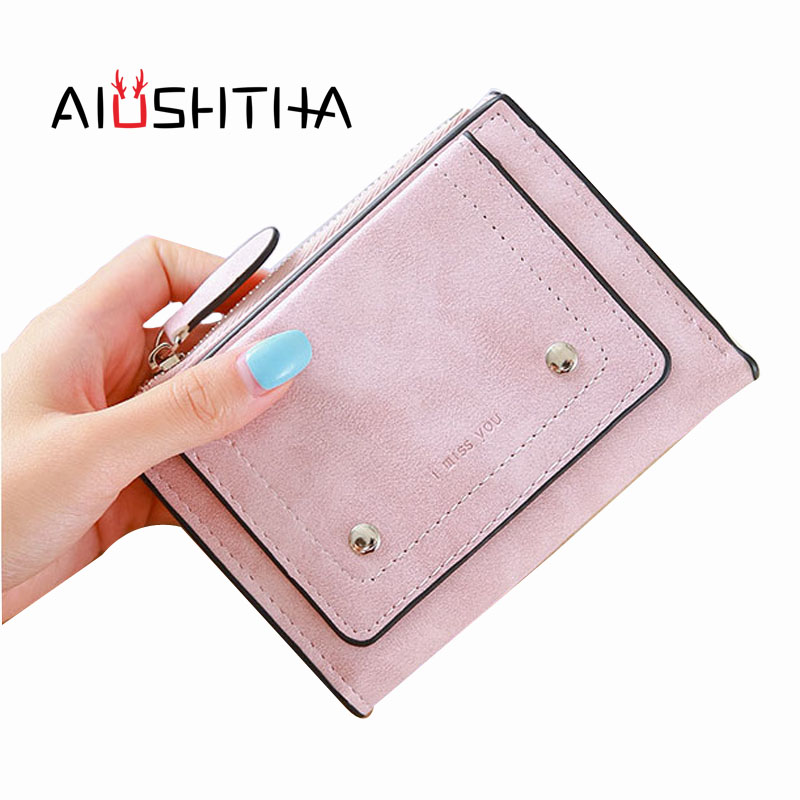 2018 Brand Design Leather Wallet Women Purse Female Clutch Small Short Mini Ladies Wallets and Coin Purses Credit Card Holder 2017 hottest women short design gradient color coin purse cute ladies wallet bags pu leather handbags card holder clutch purse