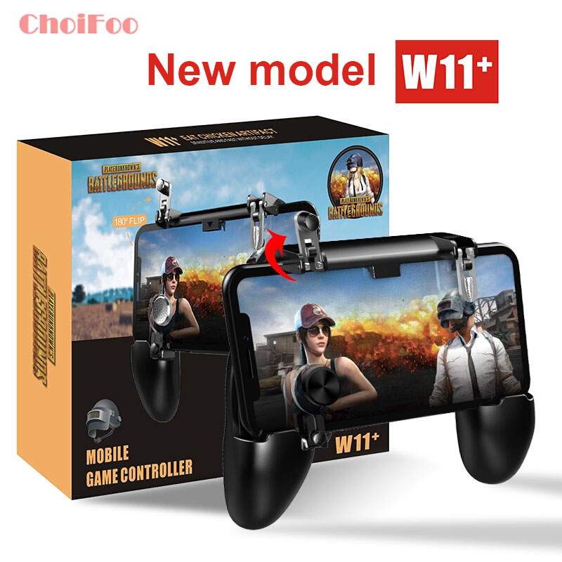 W11+ PUGB Mobile Game Controller Free Fire  PUBG Mobile Joystick Gamepad Metal L1 R1 Button for iPhone Gaming Pad Android machine