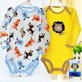 5 Peças de Bebê Da Marca Roupas de Menina Menino Manga Longa Roupas Bodysuits New Born Infantil Macacão Geral para 0-1 idade