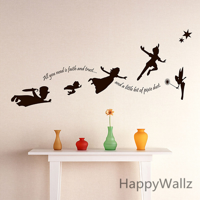 Baby Nursery Wall Sticker Children Cartoon Halloween Fairy Wall Decal DIY  Vinyl Stickers For Kids Room Part 68