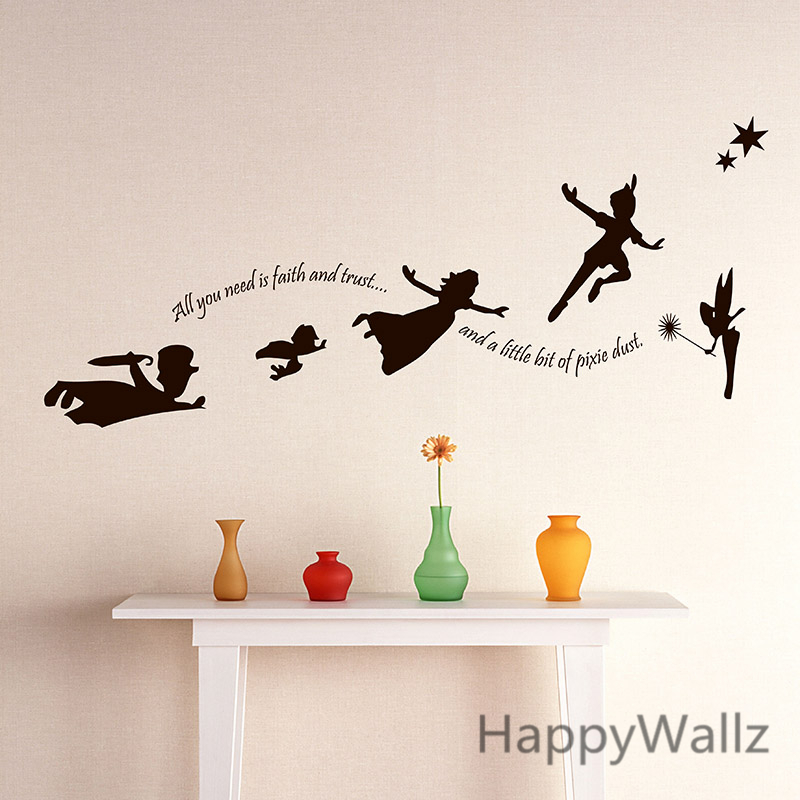 beb nursery etiqueta de la pared nios de dibujos animados de halloween fairy tatuajes de pared
