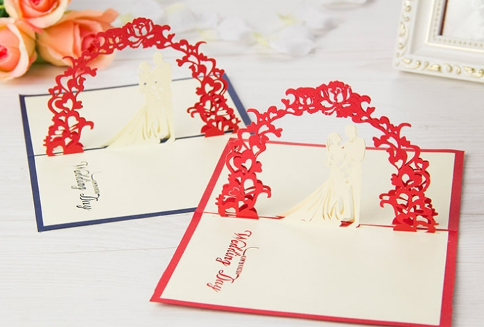5pcslot3D pop up greeting card DIY drawingWedding design – How to Draw Valentine Cards