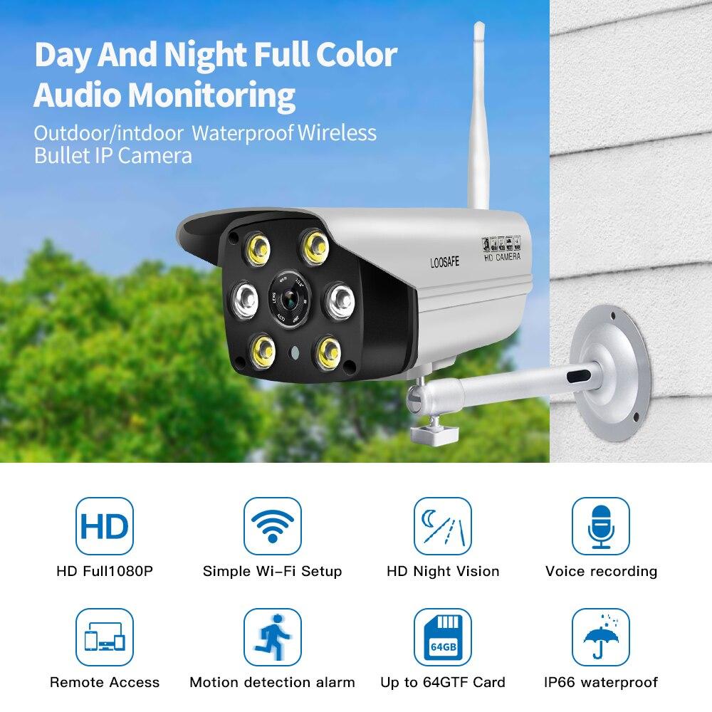 LOOSAFE наблюдения AP точки доступа WI-FI движения Камера s Открытый IP Security Камера с Ночное видение полный Цвет onvif Камера IP WI-FI