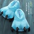 Novo Salão de Caráter Dinossauro Unisex Pijama cosplay Sapatos Do Traje Dos Desenhos Animados de Animais Garra Pata Casa Quentes Chinelos de Inverno Interior