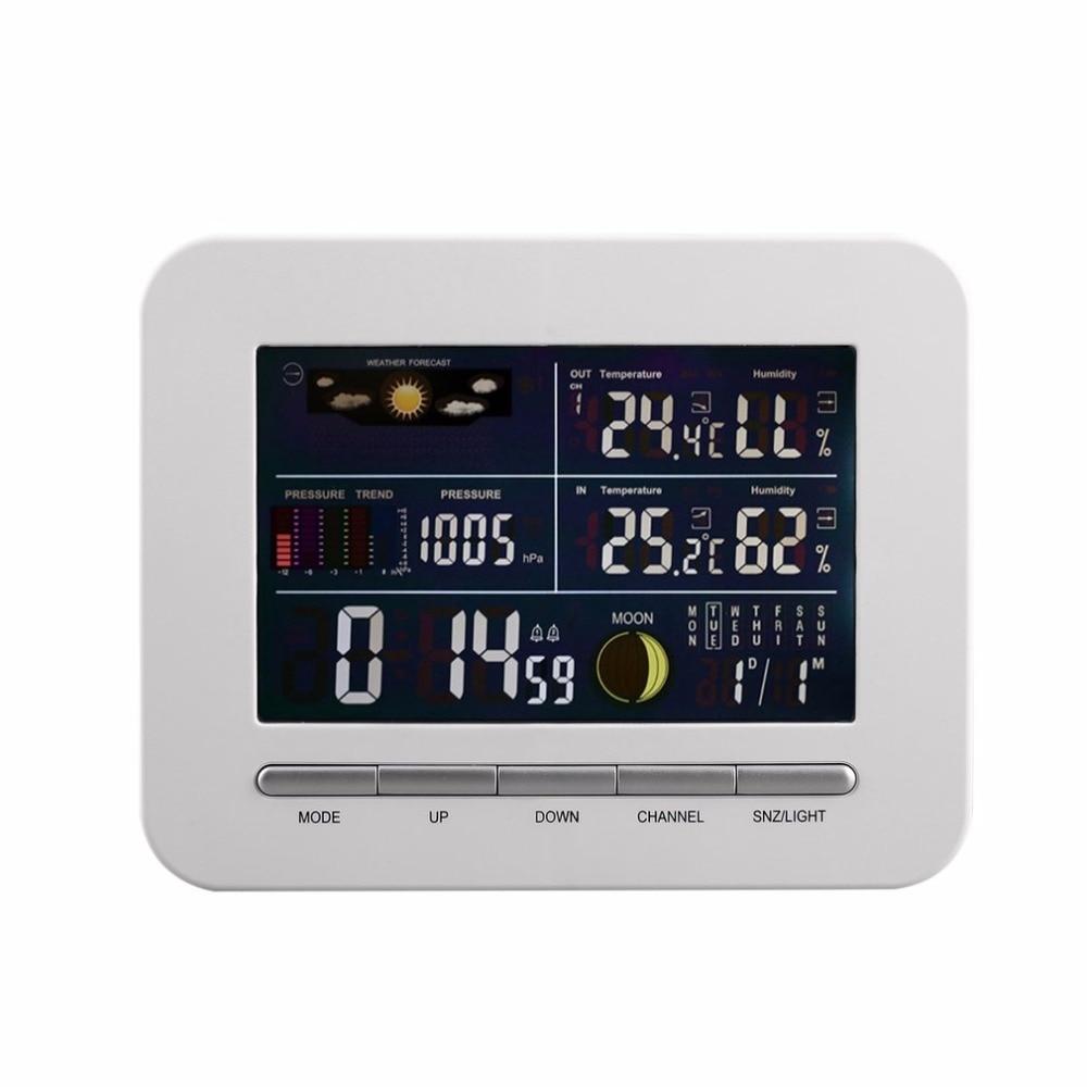 Wireless Digital Forecast Weather Station Clock Remote Sensor Indoor Outdoor Temperature Humidity Monitor Alarm Clock Hot