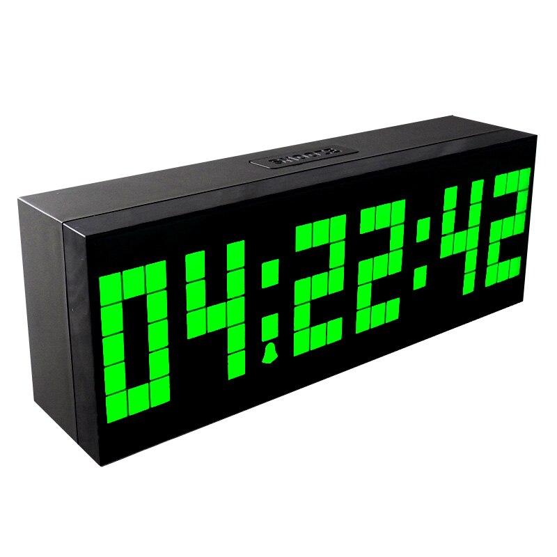 NEW HOT ountdown LED Digital Wake Up Light Clock LED Digital Table alarm Clocks with Glow Light Calendar Temperature 6 Alarms