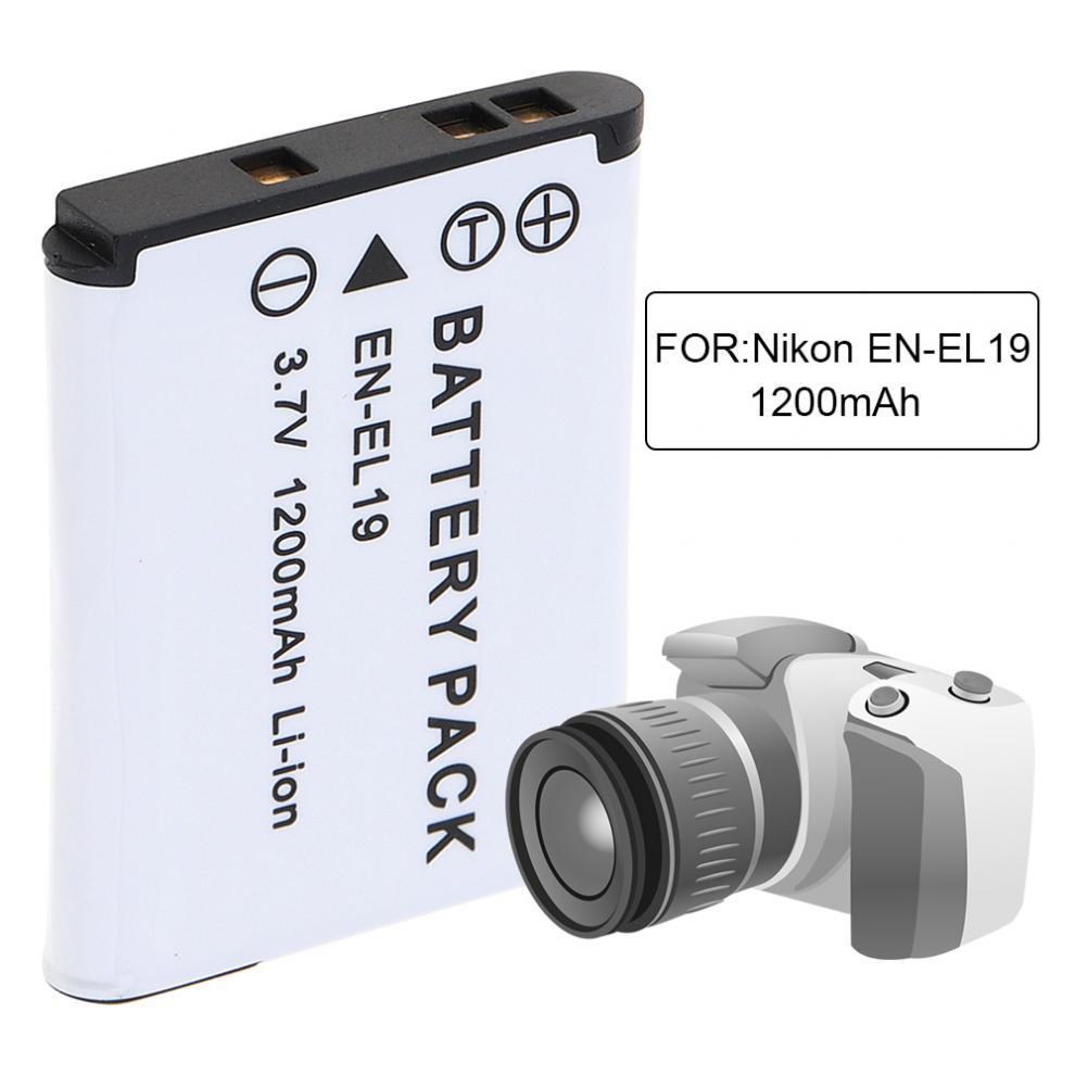 цена на EN-EL19 Rechargeable Camera Battery for Nikon Coolpix S32 S33 S100 S2500 S2750 S3100 S3200 S3300 S3400 S3500 S4100 S4150 S4200