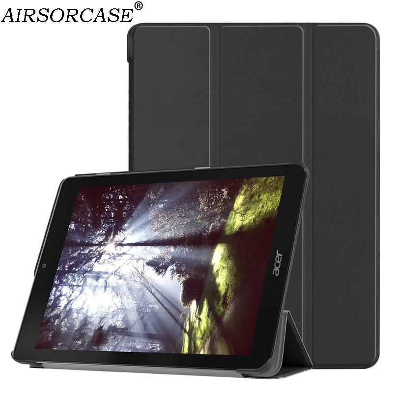 New Solid Suede Leather Cases for Acer Chromebook Tab 10 9.7'' Tablet Case fold Kickstand Hard