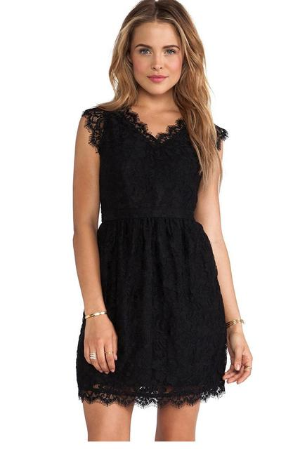 Sexy Lace Vestidos Women Casual Party Cute Style Black Lace Skater