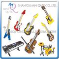 Mini Qute WTOYW 8 styles HSANHE kawaii musical instrument guitar Drum Set plastic building block cartoon model educational toy