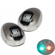 1 takım Kırmızı Yeşil LED navigasyon ışığı Gösterge Lambası 12 V tekne Yat Limanı Işık Sancak Işık ITC