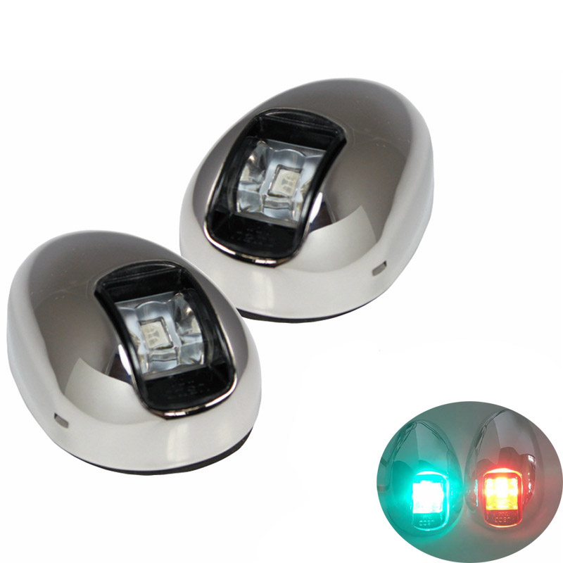 1Set Red Green LED Navigation Light Indicator Lamp for 12V Marine Boat Yacht Port Light Starboard Light from ITC-in Marine Hardware from Automobiles & Motorcycles