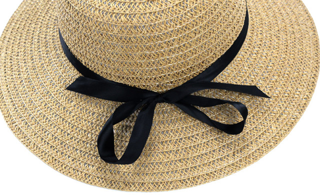 Hats Women Wide Large Brim Floppy Summer Beach Sun Hat Straw Hat Bowknot  Cap Summer Hats For Women Anti-uv Panama Female f38911fd3d0a