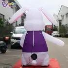 Пасхальный фестиваль 2,4 метров высокий большой надувной кролик с яичным заказным цифровым принтом надувной стоящий кролик игрушка Спорт - 5