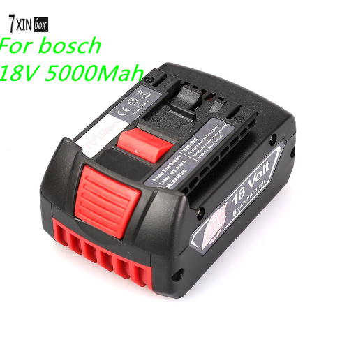 Подробнее о Lithium Ion Power Tool Battery Packs for Bosch 18V 5.0Ah BAT609 BAT618 2 607 336 170 2 607 336 169, HTH182- 01, DGSH181K,37618 bosch 280мм 1 618 600 023