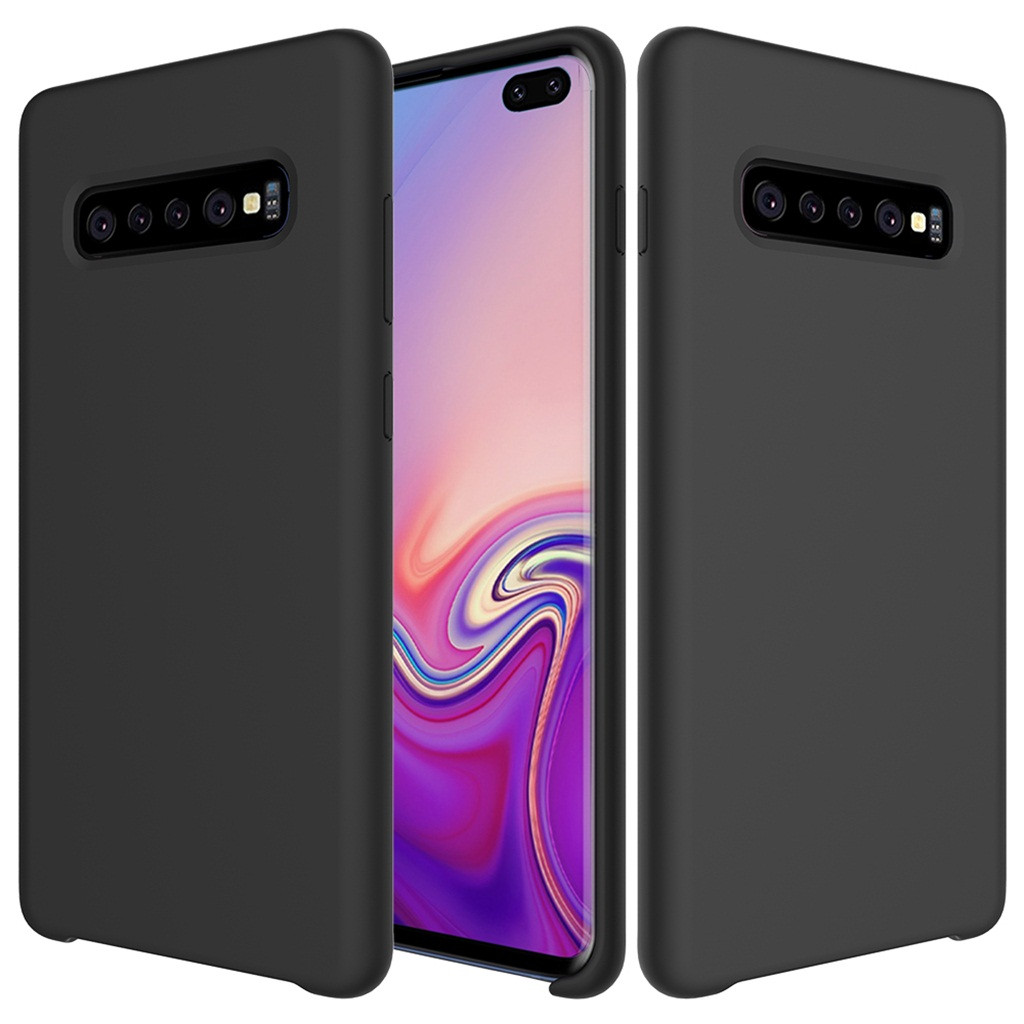 For Samsung Galaxy S10 Plus 6.4Inch Ultra-Thin Silicone Leather Soft Case Cover Ultrathin Soft TPU Case Candy Color Back Cover