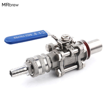 """Stainless Steel Ball Valve 1/2"""" Barb Pipe Weldless Compact Kettle Ball Valve Homebrew"""