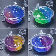 YOOAP Crystal Mud Slime Toy For Kids With Colored Foam Balls Clear Fluffy Clay Adults Anti-stress  DIY Color Mixing