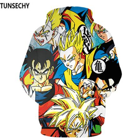 TUNSECHY Brand Dragon Ball 3D Hoodie Sweatshirts Men Women Hoodie Dragon Ball Z Anime Fashion Casual Tracksuits Boy Hooded 3