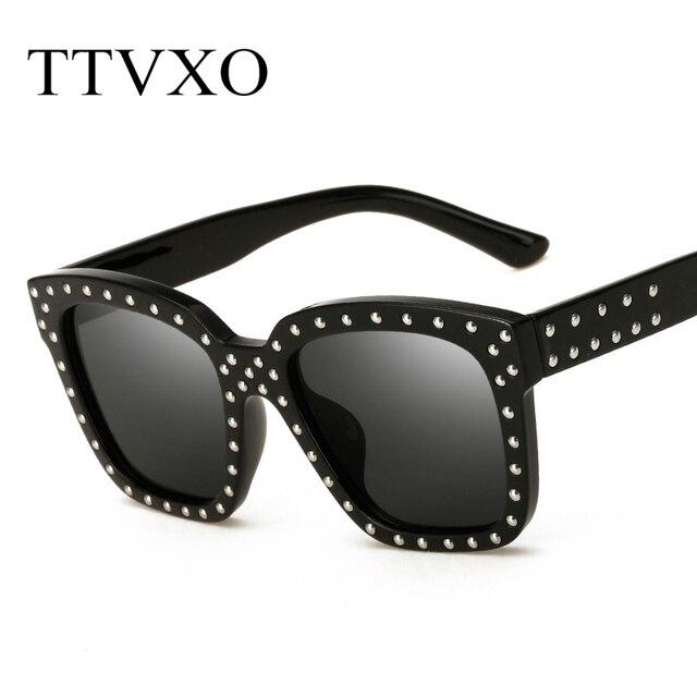 aac2f773a8a5 TTVXO Square Frame Rivet Sunglasses Steampunk Women Men Black Hip Hop  Oversized Mirrored Sun Glasses Male Anti uv Goggles Oculos