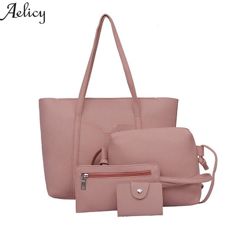 605eb7d52b 4 sets handbag women composite female large capacity. Hang Bags