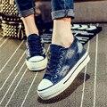 Дизайнер холст обувь Женщины плоские Повседневная Обувь пары тапочек корзины Джинсовые эспадрильи Платформы толстой подошве Квартиры zapatillas AK071309