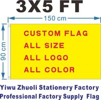 Custom Flag 150X90cm 3x5FT 120g 100D Polyester Cheap Price And High Quality Free Shipping History Flag