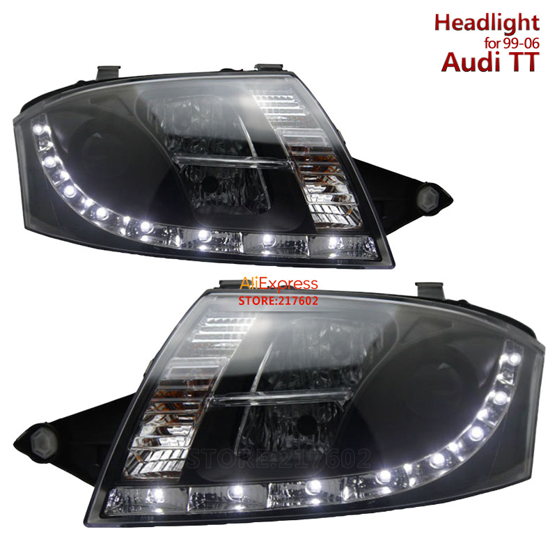for Audi TT Projector Headlights Assembly with LED line light fit 1999-2006 models Car front lights Tunning Easy installation