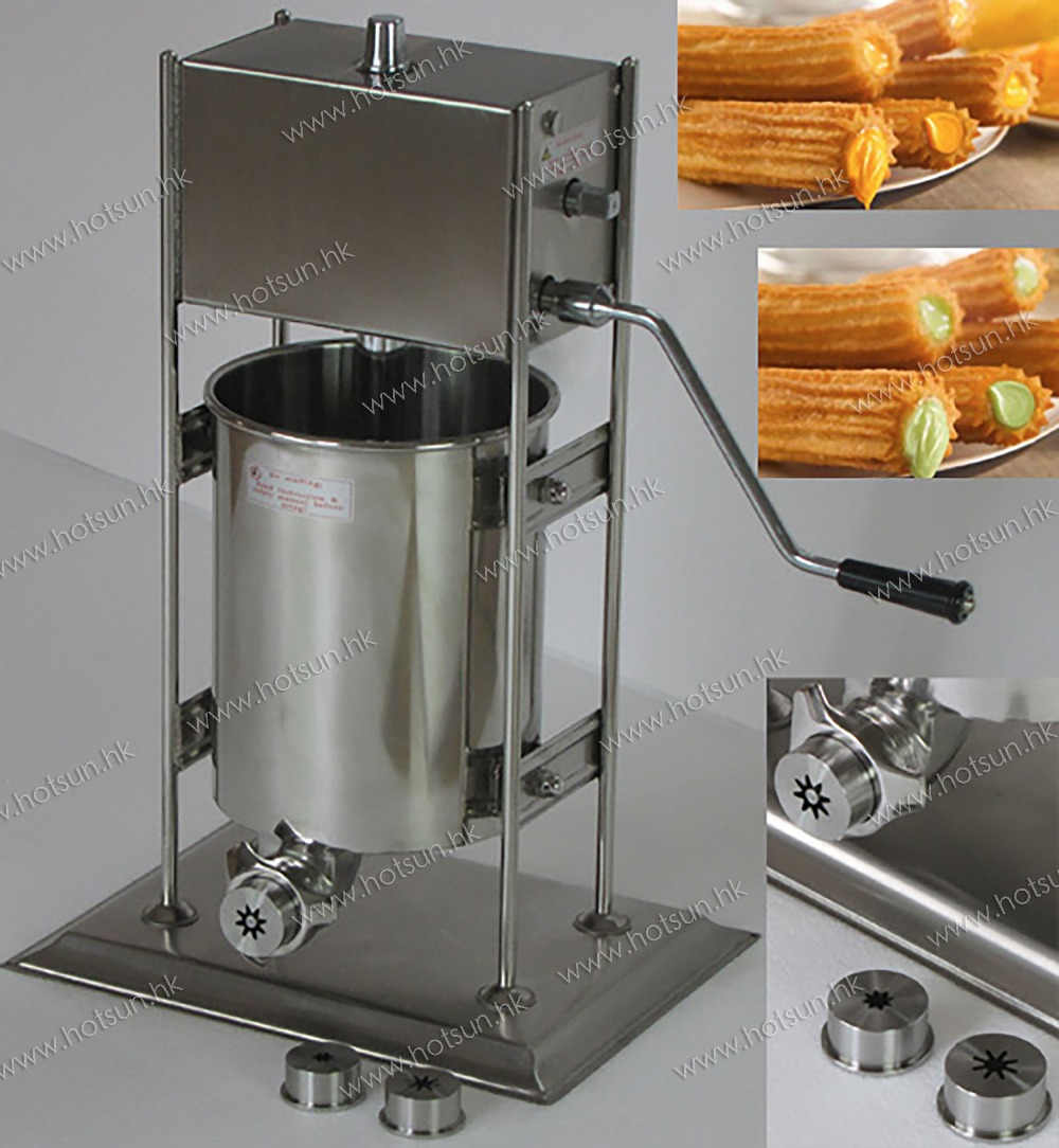 10L Commercial Use Manual Spanish Churro Machine Maker Baker 10l stainless steel commercial manual spanish churro maker doughnut machine
