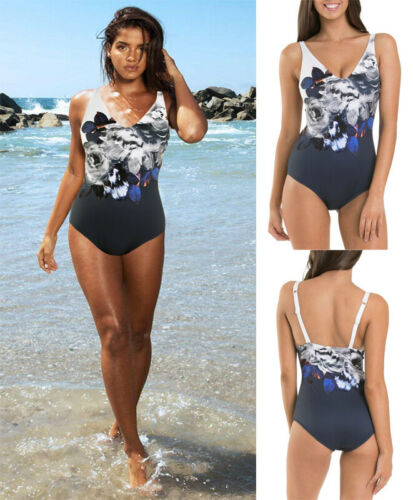 2020 Newest Fashion Hot Sexy Charming Wholesale Women Sexy Floral One Piece Swimwear Fashion Sleeveless Push Up Padded Bikini