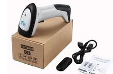 Wireless barcode scanner gun express single dedicated supermarket Retail Stores bar code reader with function of storage
