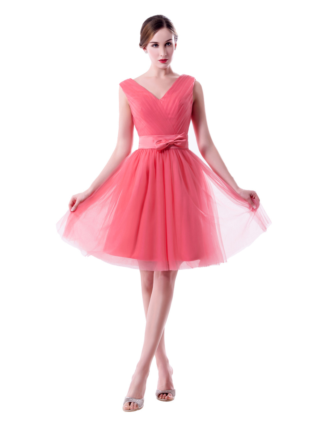 Increíble Vestidos De época De Color Rosa De Dama De Honor Motivo ...